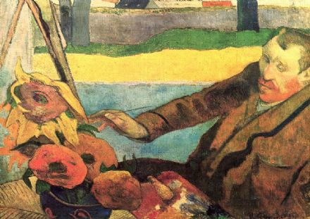 Gauguin, Paul: Van Gogh Painting Sunflowers. Fine Art Print/Poster. Sizes: A4/A3/A2/A1 (001534)